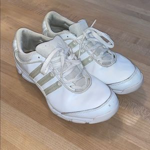 adidas Shoes - Adidas white cheer sneakers - like new